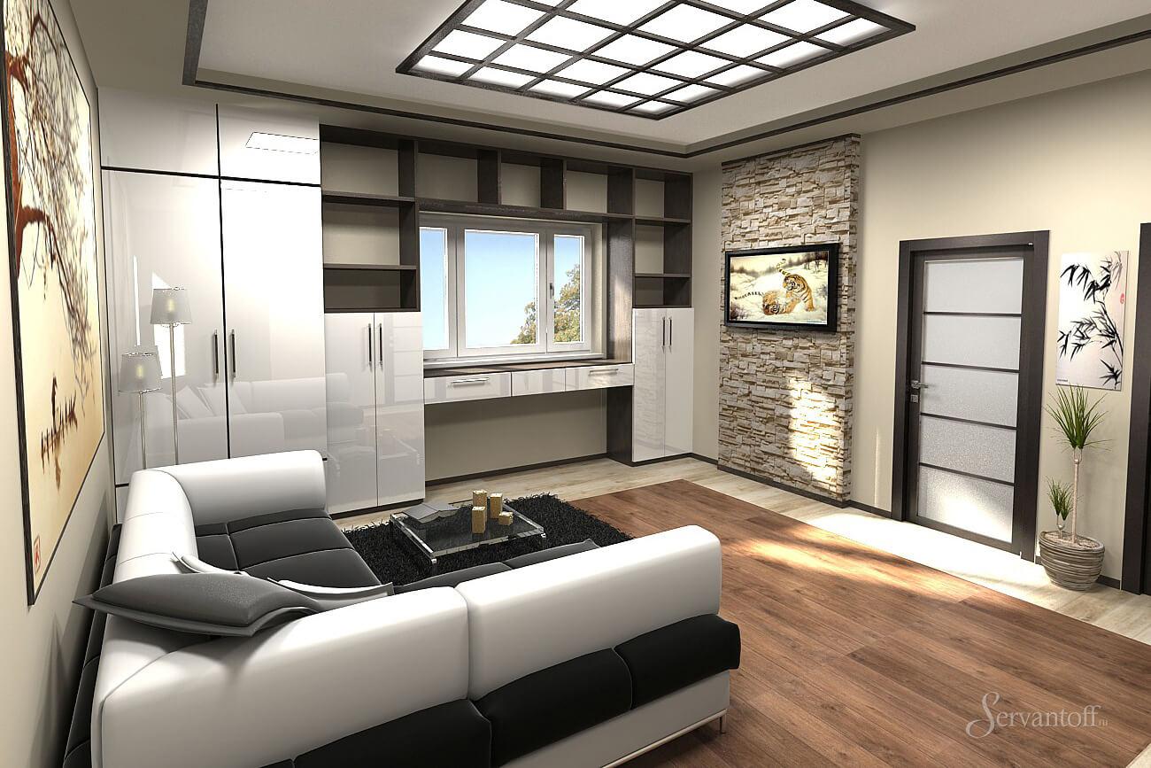 Фото ремонтов однокомнатных квартир в стиле хайтек