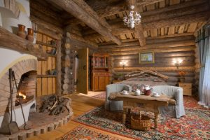 деревянный интерьер под старину