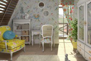 интерьер детской в стиле прованс