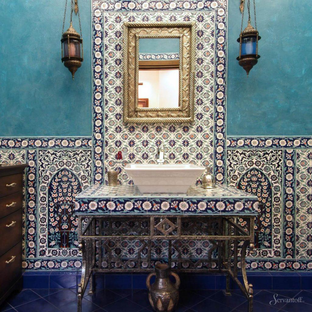 Интерьер ванной в восточном стиле фото