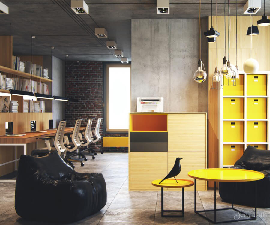 Дизайн офисов лофт