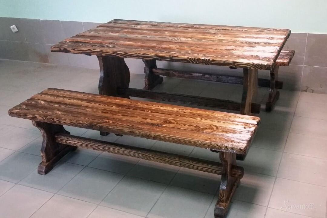 Деревянные столы под старину своими руками 13