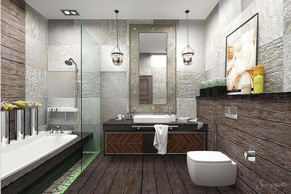 Ванная комната в стиле лофт дизайн