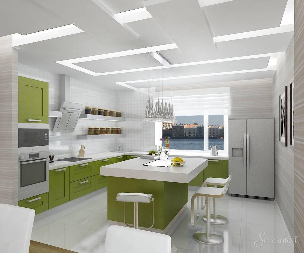 Дизайн кухни стиле минимализм