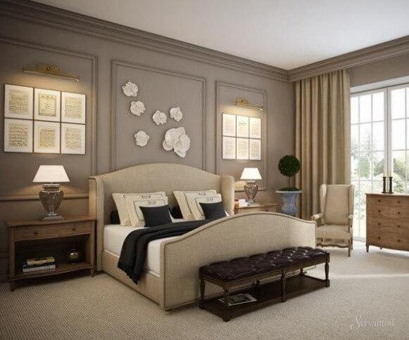 спальня в американском стиле интерьер фото