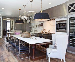 кухня гостиная в стиле эклектика