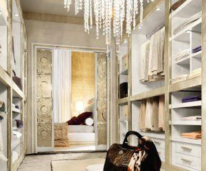 классический дизайн гардеробной комнаты