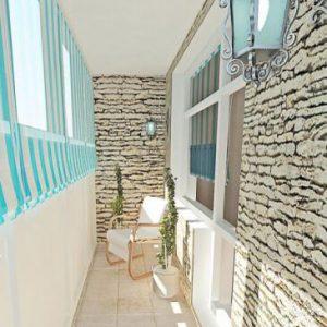 интерьер балкона в средиземноморском стиле