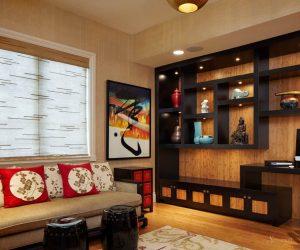интерьер с мебелью в китайском стиле
