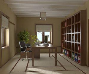 дизайн кабинета в японском стиле