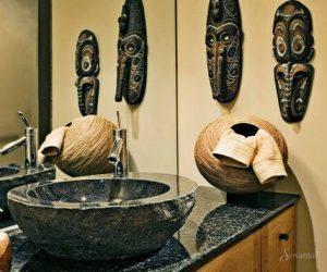 интерьер ванной в африканском стиле