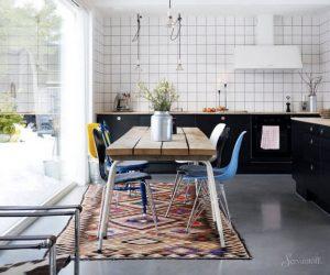 кухня столовая в скандинавском стиле