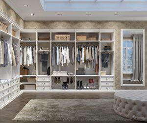 интерьер гардеробной в классическом стиле
