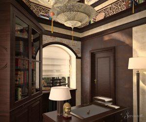 дизайн офиса в восточном стиле