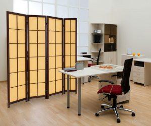 японский стиль в интерьера кабинета