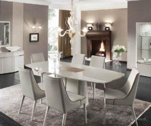 стиль модерн в столовой