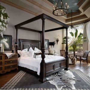 колониальный стиль в спальни
