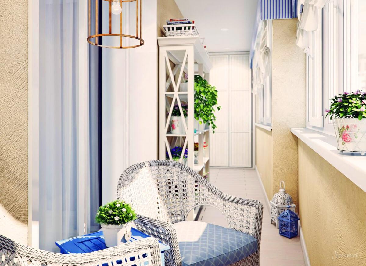 Балкон в средиземноморском стиле.
