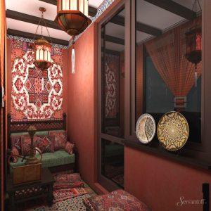 Лоджия в арабском-стиле