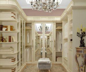 гардеробные комнаты в классическом стиле