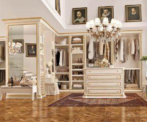 классический стиль в интерьере гардеробной
