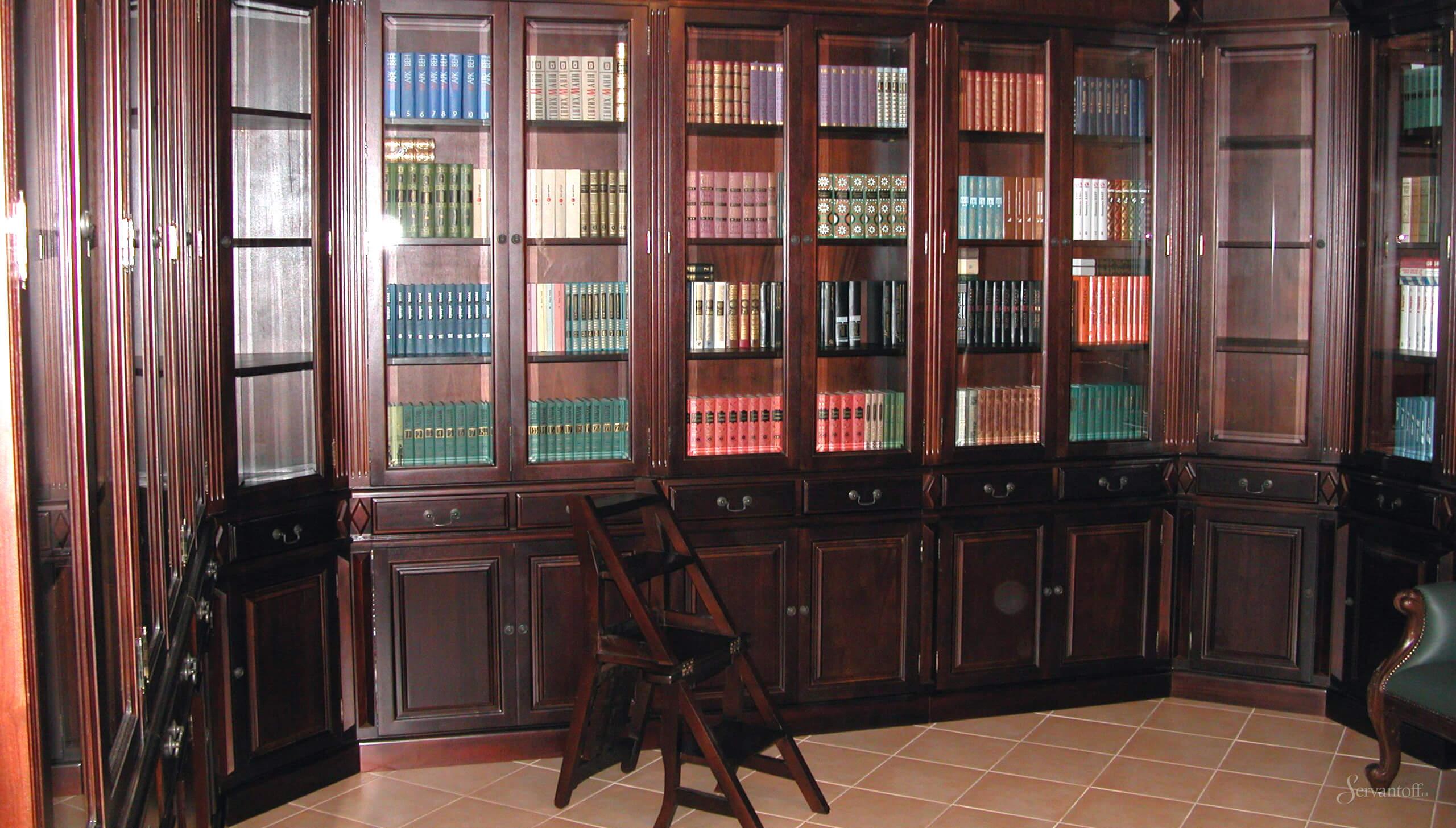 Библиотека в английском стиле, мебель для библиотеки.
