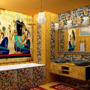 египетский стиль в дизайне квартиры