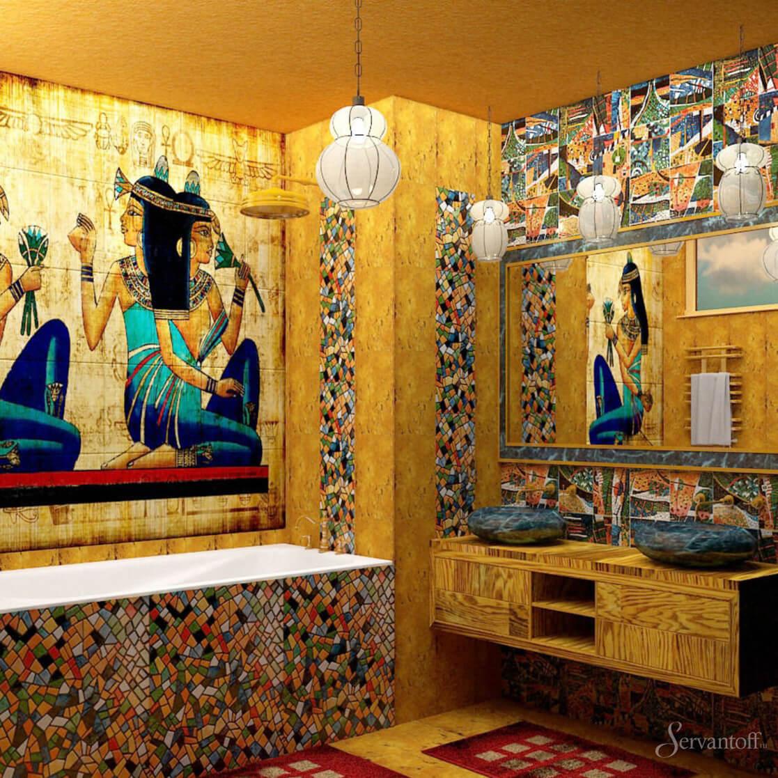 Египетский стиль в интерьере квартиры.