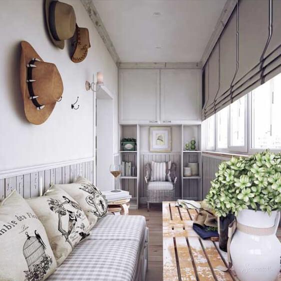 прованс в фото балкон дизайн стиле