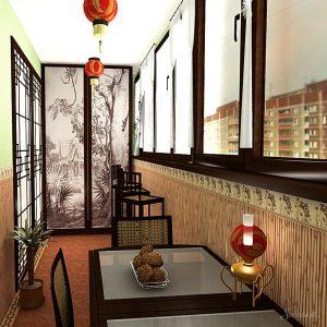 восточный стиль в интерьере балкона