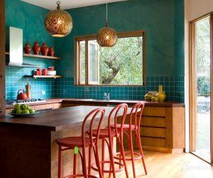 интерьер кухни в стиле эклектика