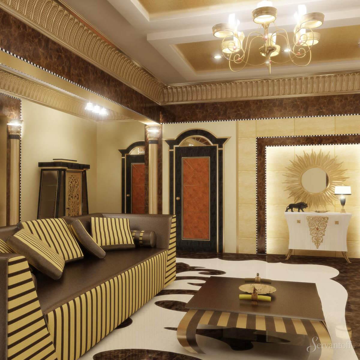дизайнерские идеи интерьера: Египетский стиль в интерьере квартиры