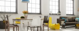 скандинавский стиль в интерьере столовой