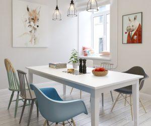 гостиная столовая в скандинавском стиле
