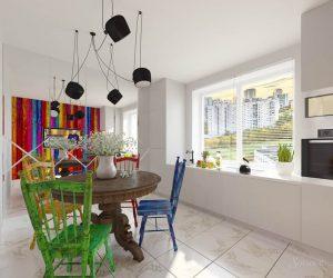 эклектика в дизайне кухни