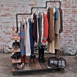 гардероб в стиле лофт