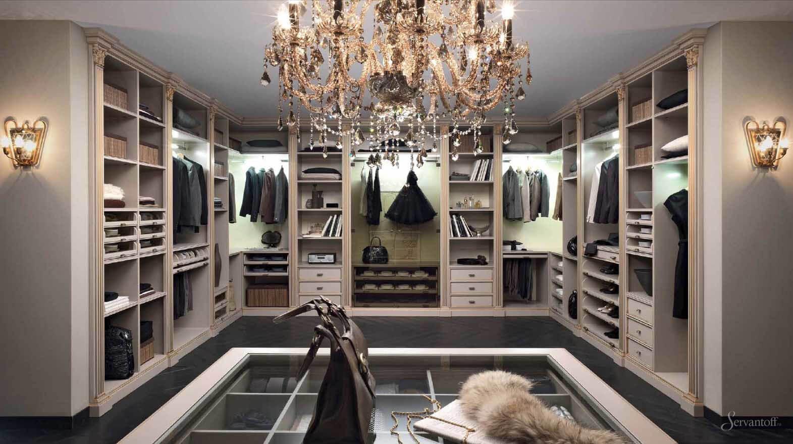 гардеробная в классическом стиле