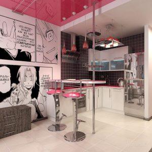 поп арт в интерьере кухни