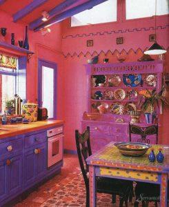 бохо в интерьере кухни