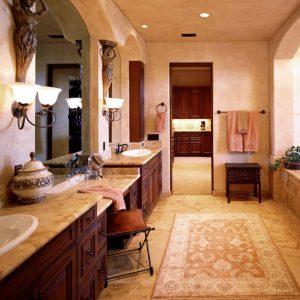 Колониальный стиль в ванной комнате
