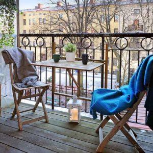 декор террас балконов в скандинавском стиле