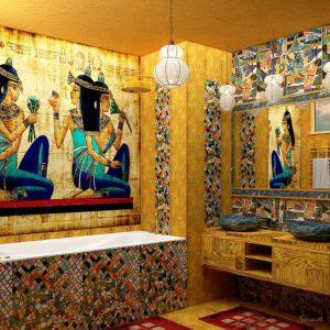 интерьер ванной в египетском стиле