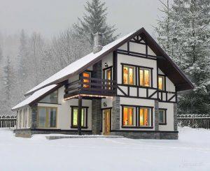 коттедж в альпийском стиле