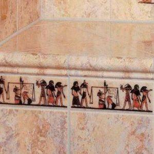 плитка в ванной в египетском стиле