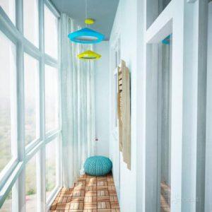 скандинавский стиль в интерьере балкона