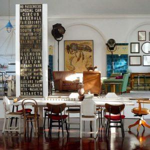 мебель интерьера в стиле эклектики