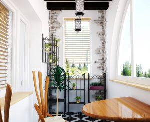 японский стиль на балконе
