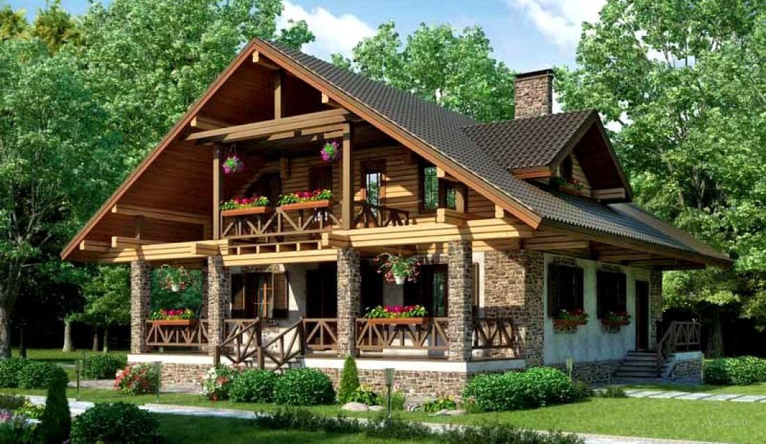дом в стиле альпийского шале