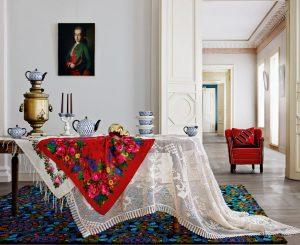 русский стиль мебели в интерьерах