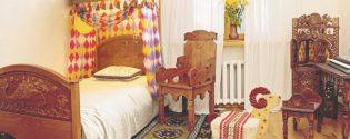 Детская деревянная мебель в русском стиле